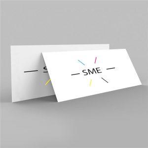 Carte de Correspondance Pelliculé – Recto/Verso – Simple Coins Carrés